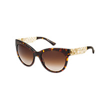 Buy Dolce & Gabbana DG4211 502/13 Cat's Eye Acetate Framed Sunglasses, Tortoisehell Online at johnlewis.com