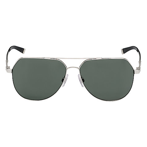 Buy Dolce & Gabbana DG2133 05/71 Aviator Metal Sunglasses, Silver Online at johnlewis.com