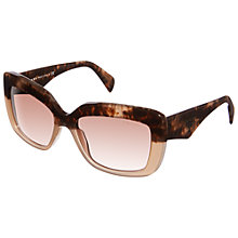 Buy Prada PR03QS Square Sunglasses, Tan / Havana Online at johnlewis.com