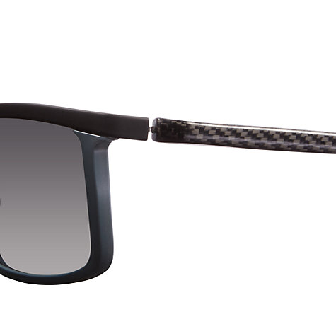 Buy Prada Linea Rossa PS51PS  R0W7W1 Rectangular Metal Framed Sunglasses, Grey Online at johnlewis.com