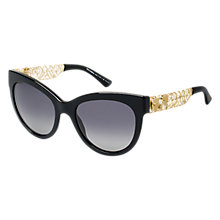 Buy Dolce & Gabbana DG4211 501/T3 Cat's Eye Acetate Polarised Sunglasses, Black/Yellow Online at johnlewis.com