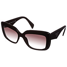 Buy Prada PR03QS Square Sunglasses, Black Online at johnlewis.com
