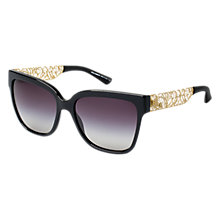 Buy Dolce & Gabbana DG4212 501/8G Elegant Rectangular Sunglasses, Black Online at johnlewis.com