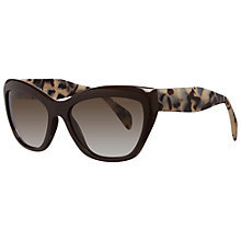 Buy Prada PR02QS DHO4M1 Cat's Eye Acetate Framed Sunglasses, Brown Online at johnlewis.com