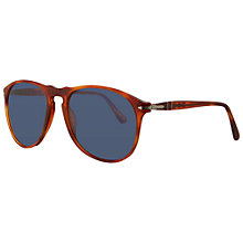 Buy Persol PO9649S 96/56 Suprema Acetate Framed Sunglasses, Terracotta Online at johnlewis.com