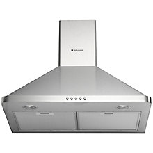 Buy Hotpoint HHP7.5CM Chimney Cooker Hood, Stainless Steel Online at johnlewis.com
