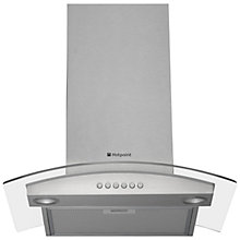 Buy Hotpoint HDA6.5SAB Chimney Cooker Hood, Stainless Steel Online at johnlewis.com