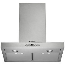 Buy Hotpoint HHB6.7AD Chimney Cooker Hood, Stainless Steel Online at johnlewis.com