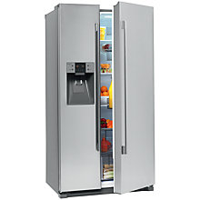 Buy John Lewis JLAFFS2013 American Style Fridge Freezer, Stainless Steel Online at johnlewis.com
