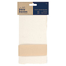 "Buy Docrafts Bare Basics Canvas Squares, 8 x 8"", 5pcs Online at johnlewis.com"