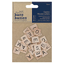 Buy Docrafts Bare Basics Caption Wooden Letters, 30pcs Online at johnlewis.com