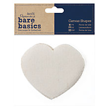 Buy Docrafts Bare Basics Canvas Hearts, 6pcs Online at johnlewis.com