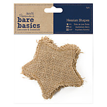 Buy Docrafts Bare Basics Hessian Stars, 6pcs Online at johnlewis.com