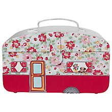 Buy Cath Kidston Caravan Sewing Basket, Pink Online at johnlewis.com