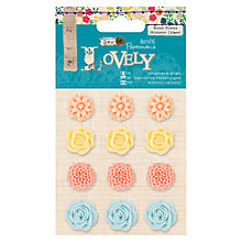 Buy Docrafts Sew Lovely Resin Flower Stickers Online at johnlewis.com
