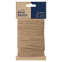 Buy Docrafts Bare Basics Jute Ribbon, 5m Online at johnlewis.com