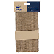 "Buy Docrafts Bare Basics Hessian Squares, 8 x 8"", 5pcs Online at johnlewis.com"