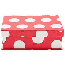 Buy Cath Kidston Big Spot A5 Fabric-Covered Box, Multi Online at johnlewis.com