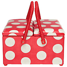 Buy Cath Kidston Twin Lid Sewing Basket, Big Spot Online at johnlewis.com