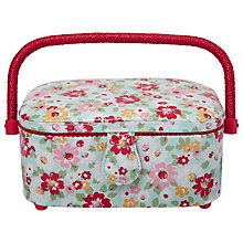 Buy Cath Kidston Oval Sewing Basket, Multi Online at johnlewis.com