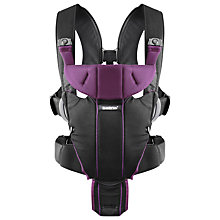 Buy BabyBjörn Miracle Carrier, Black/Purple Online at johnlewis.com