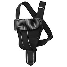 Buy BabyBjörn Original Pinstripe Baby Carrier, Black Online at johnlewis.com