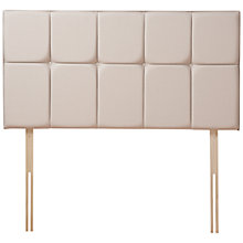 Buy Sealy Strutted Headboard, Double, Caramel Online at johnlewis.com