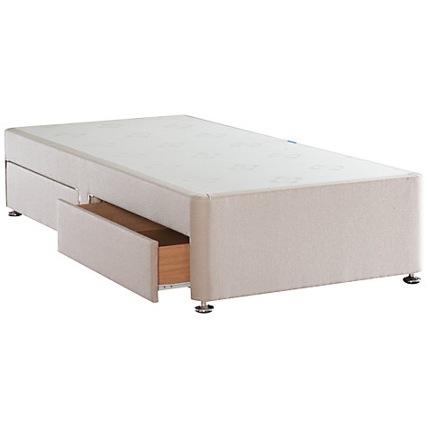Buy Sealy Solid Top Divan Storage Bed, Single, Caramel Online at johnlewis.com