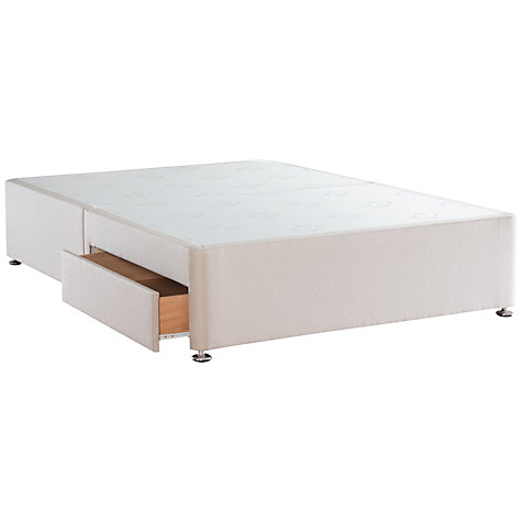 Buy Sealy Solid Top Divan Base, Double, Caramel Online at johnlewis.com