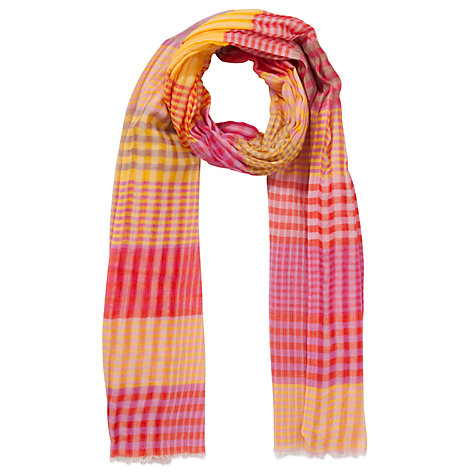 Buy Collection WEEKEND by John Lewis Check Print Scarf, Multi Online at johnlewis.com