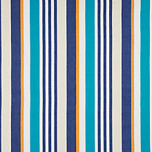 Buy John Lewis Waves & Whales Stripe Fabric, Blue Online at johnlewis.com