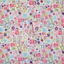 little home at John Lewis Dots and Dolls Fabric, Pink