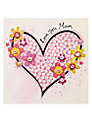 Blue Eyed Sun Mum Heart Mother's Day Card