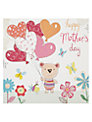 Hammond Gower Teddy with Heart Balloons Mother's Day Card
