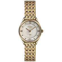Buy Rotary LB08003/41 Women's Mother of Pearl Dial Bracelet Strap Watch, Rose Gold Online at johnlewis.com