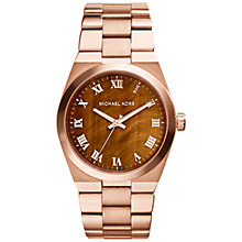 Buy Michael Kors Women's Brooks Statement Dial Bracelet Strap Watch Online at johnlewis.com