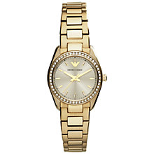 Buy Emporio Armani Women's New Tazio Round Dial Mini Bracelet Strap Watch Online at johnlewis.com