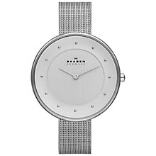 Buy Skagen SKW2140 Women's Klassik Mesh Strap Watch, Silver Online at johnlewis.com