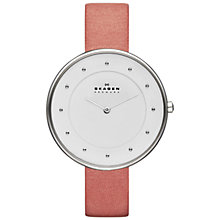 Buy Skagen Women's Klassik Slim Leather Strap Watch Online at johnlewis.com