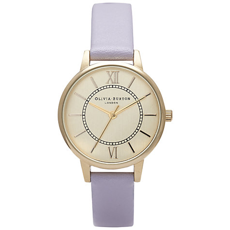 Buy Olivia Burton Women's Wonderland Leather Strap Watch Online at johnlewis.com
