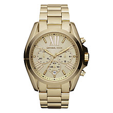 Buy Michael Kors MK5605 Women's Bradshaw Chronograph Watch, Gold Online at johnlewis.com