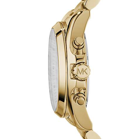 Buy Michael Kors MK5605 Women's Bradshaw Chronograph Bracelet Strap Watch, Gold Online at johnlewis.com