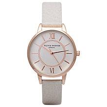 Buy Olivia Burton OB14WD24 Women's Wonderland Leather Strap Watch, Rose Gold / Mink Online at johnlewis.com