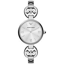 Buy Emporio Armani AR1772 Women's Gianni T-Bar Silver Dial  Bracelet Strap Watch, Silver Online at johnlewis.com
