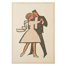 Buy Art Press Dancing Wedding Card Online at johnlewis.com