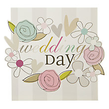 Buy Caroline Gardner Floral Wreath Greeting Card Online at johnlewis.com