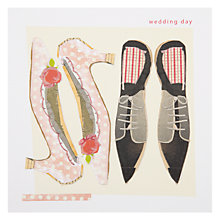 Buy Black Olive Wedding Shoes Greeting Card Online at johnlewis.com