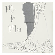 Buy Belly Button Designs Mr & Mrs Wedding Card Online at johnlewis.com