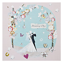 Buy Hammond Gower Dancing Wedding Couple Greeting Card Online at johnlewis.com
