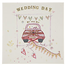 Buy Mint Wedding Car Greeting Card Online at johnlewis.com